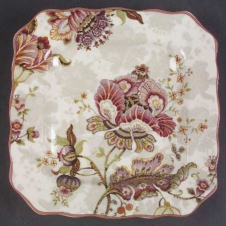 222 Fifth Gabrielle Cream Square Salad Plates - Set of 4 - 8