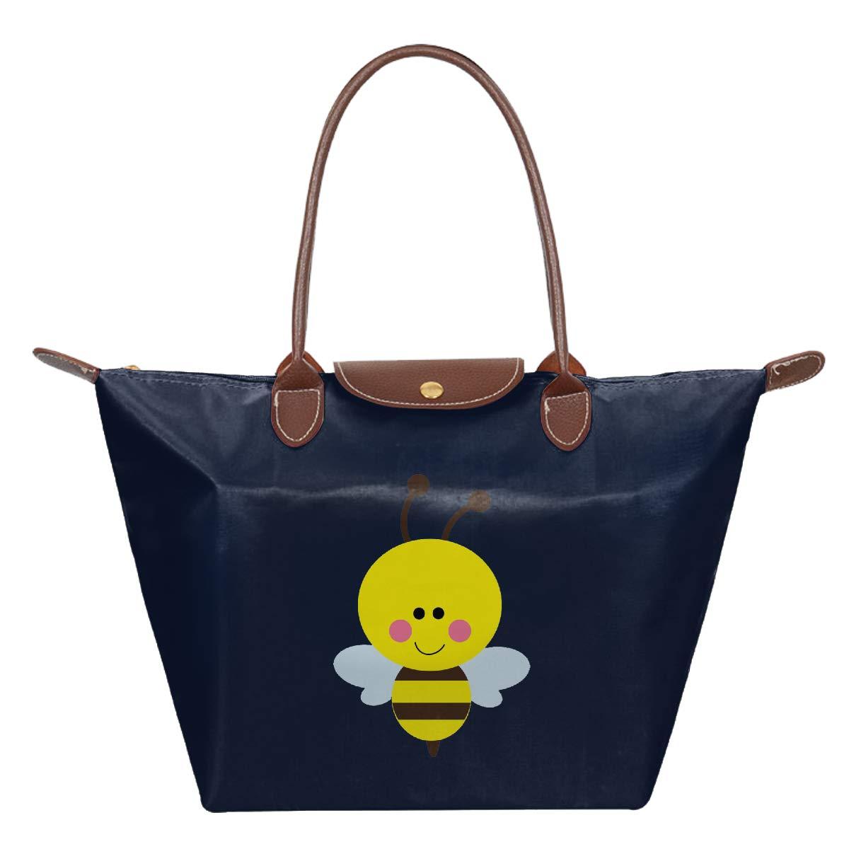 Bumble Bee Waterproof Leather Folded Messenger Nylon Bag Travel Tote Hopping Folding School Handbags