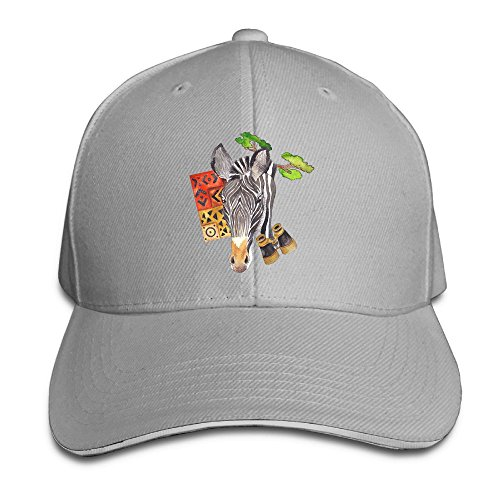 Creative Artistic Zebra Paint Fashion Design Unisex Cotton Sandwich Peaked Cap Adjustable Baseball Caps Hats Ash (Baby Halloween Costumes 2017 Uk)