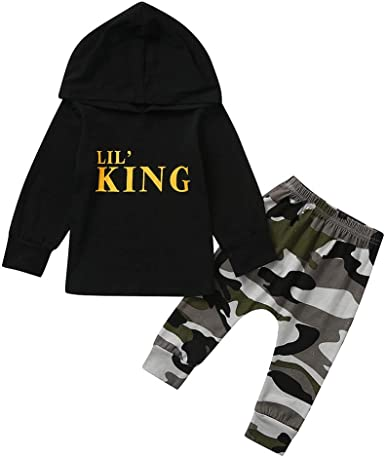 UK Casual Toddler Kids Baby Boy Hooded Top T-shirt Sweatshirt Outerwear Clothes