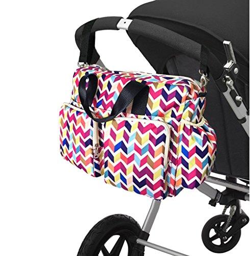 Bolso de la momia de la capacidad grande de la bandera del color, bolso del recorrido, paquete de la mamá del recorrido, paquete del ocio, bolso del bebé de la madre