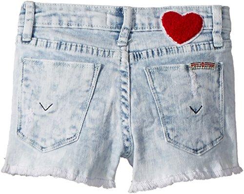 Hudson Kids Baby Girl's Free Love Shorts (Toddler/Little Kids) Bleach 3T by Hudson Jeans (Image #1)