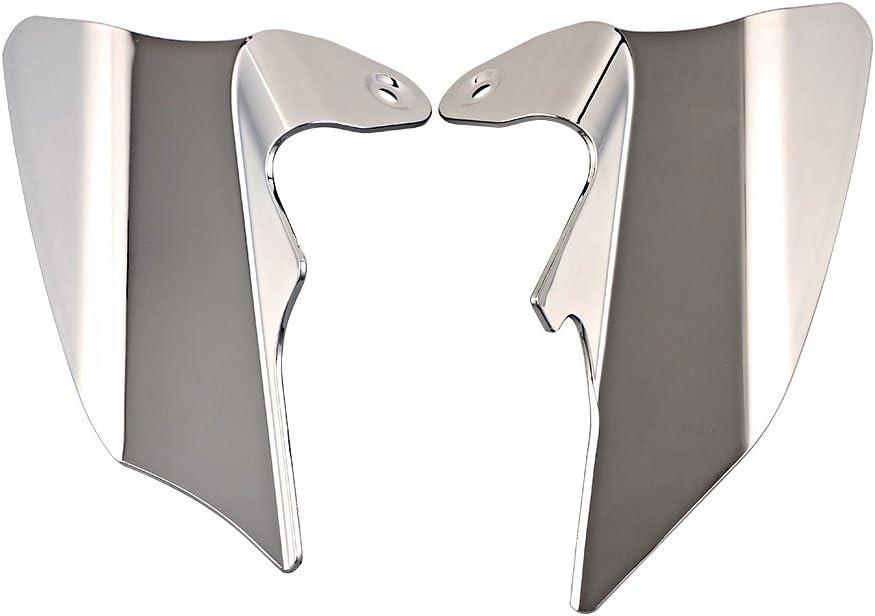 Set Chrome Saddle Shield Air Heat Deflector For 1997-2007 Harley Touring FLH FLT