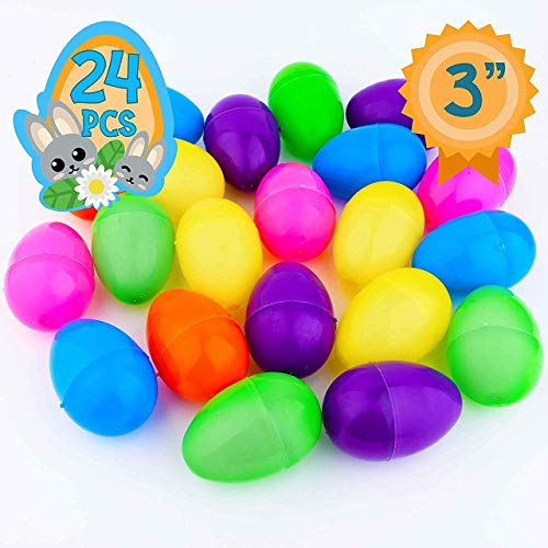 Totem World 24 Fillable Plastic Easter Egg Hunt Party Supply Pack - 3