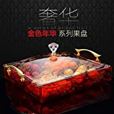 DHWM-Dried Up, Four Grid With Cover Continental Candy Box, The Creative Fruit Plate, Moving The Happy Wedding Corporate Gifts, Purple