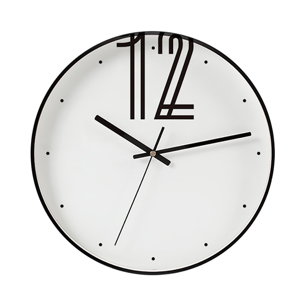 ノルディックウォールクロックミュートリビングルームモダンミニマルクリエイティブサイレントスイープレストランの装飾装飾的なクォーツ時計 B07CYY6CLN
