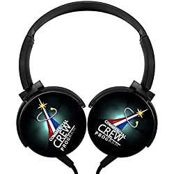 LightWeight Over-ear Strong Sound Stereo Headphone America NASA Flag Rotation Axis Design Support Cell Phone Calls Portable Wired Headset