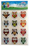 Beautiful Illustrated Metallic Owls Stickers – 8 Sheets Good for Art. Creation and Decoration Waterproof (Metallic Owls)