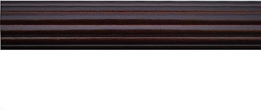1-38 Inch Wood Smooth Drapery Rod 6 Ft Hazelnut