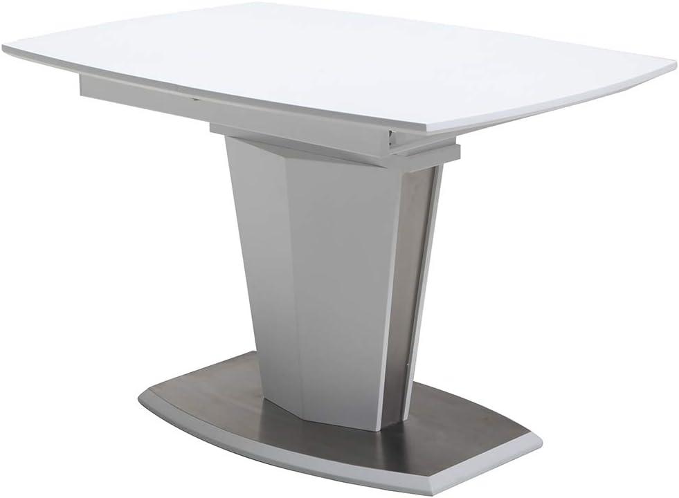 Meubletmoi - Mesa de Comedor Extensible 120/160 cm, Rectangular ...