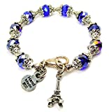Eiffel Tower Capped Crystal in Sapphire Blue Chubby Chico Charms Exclusive