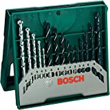 Bosch 2607019675-000, Jogo X-Line Brocas Madeira/Metal/Concreto, Azul, 15 Peças