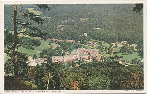 Historic Pictoric Postcard Print | Birds-eye View, Virginia. Hot Springs, Va, 1898 | Vintage Fine Art