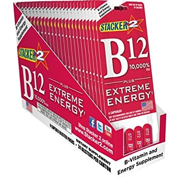 B12 Extreme Energy + Stacker 2 10,000% RDA - (24) Four Count Blister