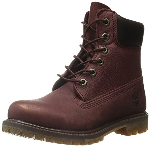 Timberland 6in Premium Boot - W Burgundy, Bottes Track femme Bordeaux