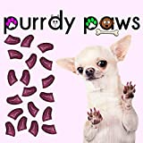 40-Pack Soft Nail Caps For Dogs Claws ROYAL PINK GLITTER SMALL Purrdy Paws