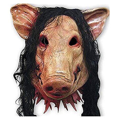 Halloween Celebration Prop Bar Decoration Cos Cosplay Animal Pig Chainsaw Maniac Ghost Horror Head Mask Masquerade Headgear ()