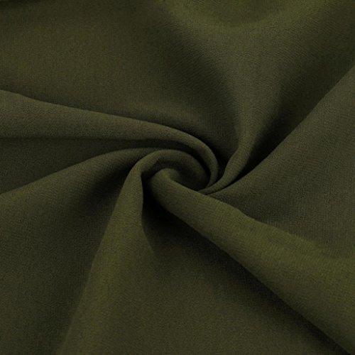 FNKDOR Mujeres más la blusa de las tapas de la gasa de la camisa de la media manga del V-cuello del tamaño Verde