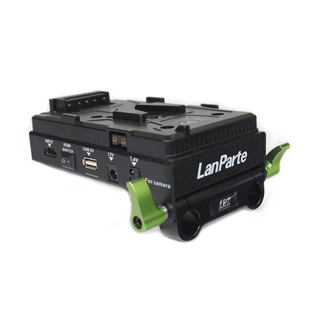 Lanparte VBP-01 SONY V-Mount Battery Pinch with HDMI Splitter, Multiple Power Ports, V-Lock (Black) by LanParte