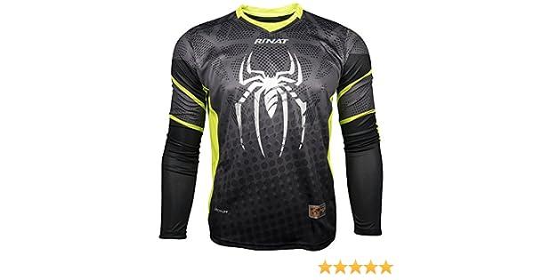 Rinat Symbiotik - Jersey de portero, Unisex, Negro / amarillo neón, M (Infantil)