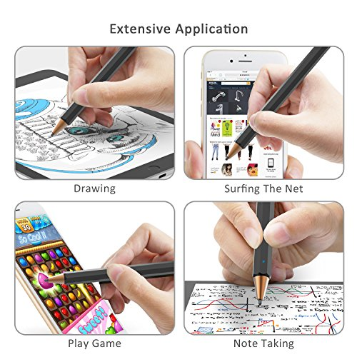 Abida Stylus for iPad, Touchscreen Pen with Fiber Fine Tip, Rechargeable, No Need App or Bluetooth for iOS Devices, Especially for Apple Devices Such as iPad, iPhone, iPad Pro - Brown by Abida (Image #4)