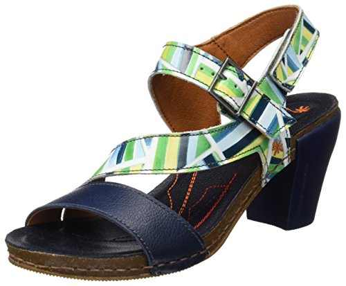 Art 0211f Fantasy I Feel, Sandalias con Tira de Tobillo Para Mujer Multicolor (Stripes)