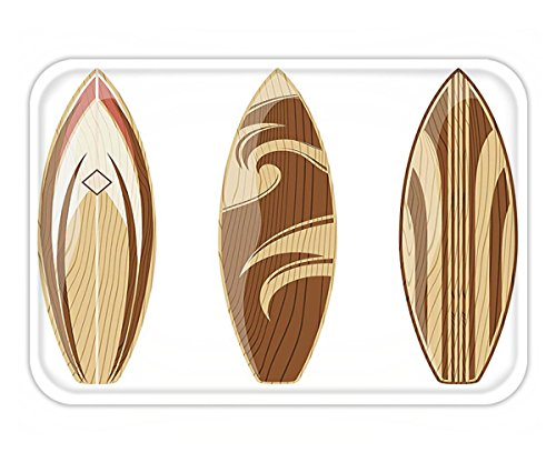 Minicoso Doormat Surfboard Decor Collection Wooden Surfboards Adventurous Wood Color Natural Classic Design Peru Cream Tan - Classic Surf Collection
