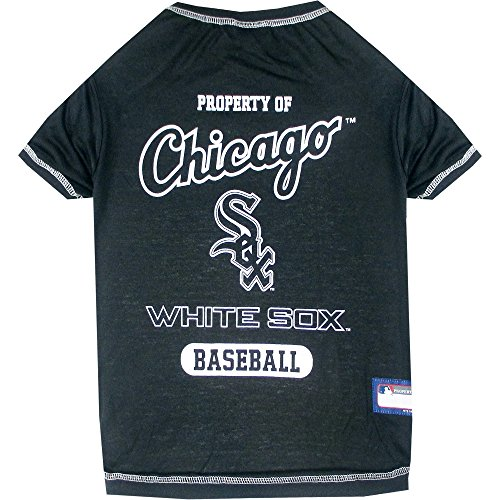 Pets First Chicago White Sox T-Shirt, Medium, Multi-Color Sox Pet Jersey