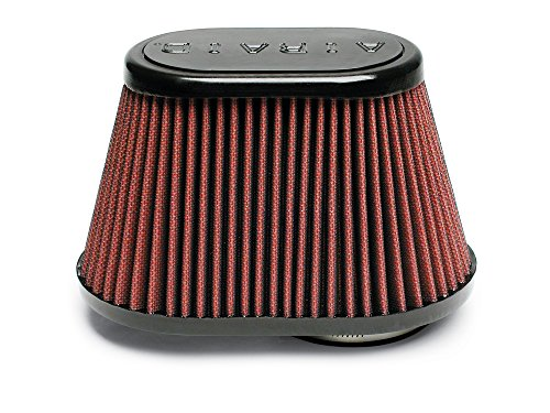 Airaid 720-431 Universal Clamp-On Air Filter: Oval Tapered; 3 in (76 mm) Flange ID; 5.25 in (133 mm) Height; 8.5 in x 5.25 in (216 mm x 133 mm) Base; 6 in x 3.75 in (152 mm x95 mm) Top