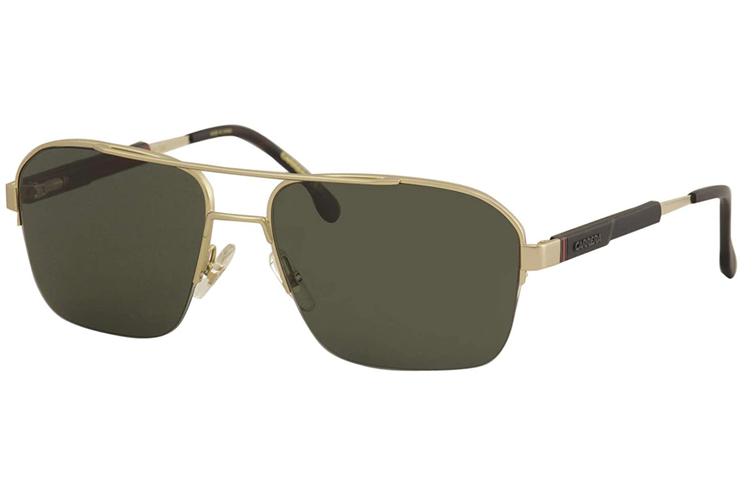 Amazon.com: Gafas de sol Carrera 8028/S 0AOZ Semi Matte Gold ...