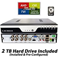 Evertech 8 Channel Real-time, Cloud Option, Hdmi DVR H.264 Full D1 High-definition + 2TB HDD