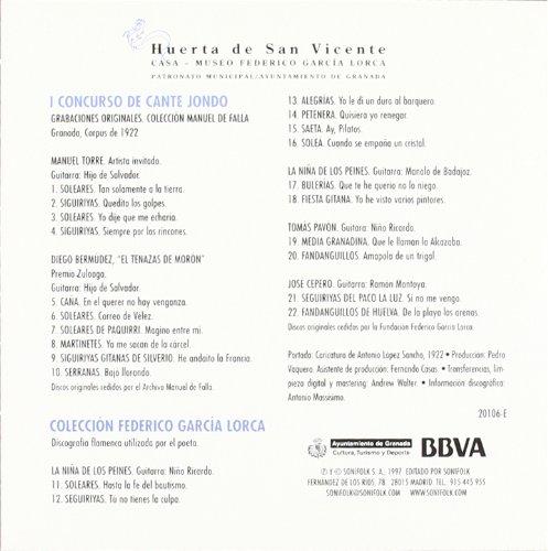 Federico García Lorca y su arquitectura del cante jondo: Amazon.es: Federico García Lorca: Libros
