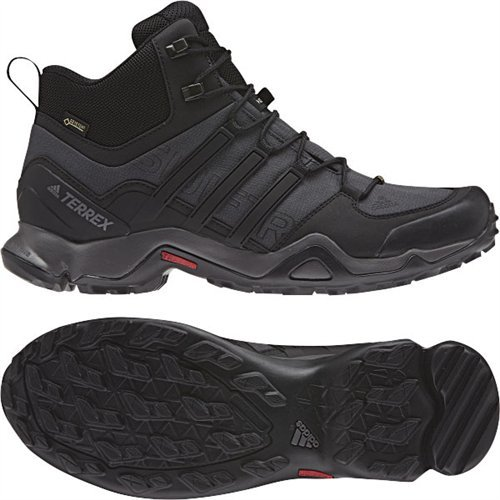 Adidas Terrex Swift R Mid GTX Boot Mens Hiking 11 Dark Grey-Black-Granite