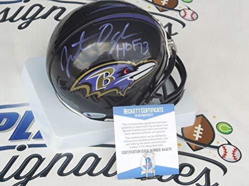 Jonathan Ogden Autographed Signed Baltimore Ravens Mini Helmet Signature - Beckett Authentic (Baltimore Signature Helmet)