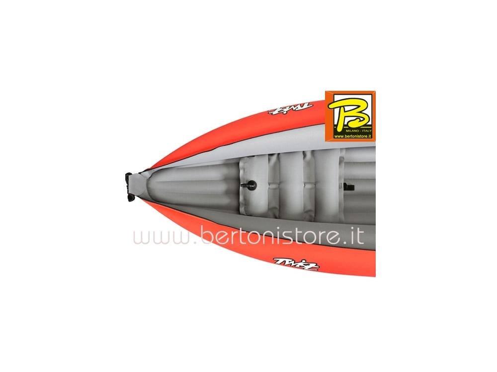 1 Pagaia Divisibile GUMOTEX + 1 Pompa Gumotex Canoa Gonfiabile Twist N I Rosso 2018 con Pinna 043948-015-N-R 5C//11C