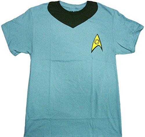 [Star Trek Spock Uniform Adult T-Shirt (XXX-Large, Blue)] (Star Trek Uniform Shirts)