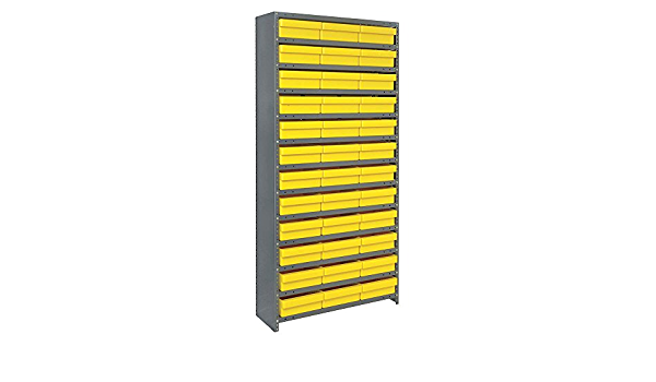 Amazon Com Closed Shelving Storage System With Euro Drawers Bin Dimensions 4 5 8 H X 11 1 8 W X 11 5 8 D Qty 36 Bin Color Yellow Office Products