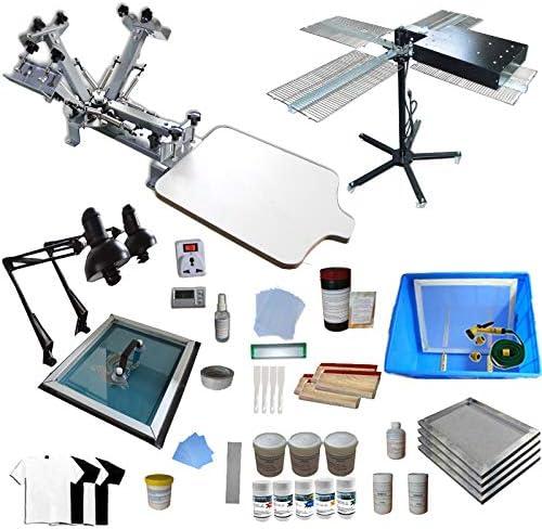 INTBUYING Kit de impresión de pantalla de 4 colores Prensa de máquina de impresión para principiantes: Amazon.es: Hogar
