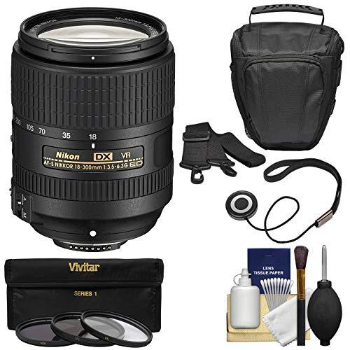 Nikon 18-300mm f/3.5-6.3G VR DX ED AF-S Nikkor-Zoom Lens with Case + 3 UV/CPL/ND8 Filters + Kit for D3200, D3300, D5300, D5500, D7100, D7200 Cameras (Nikon Dx 55 200mm 1-4 5-6 G Ed)
