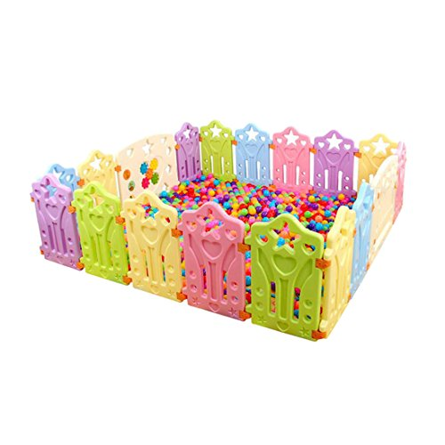 Qianle Baby Indoor Playpen Safty Play Center Yard Play House for Toddler Kids 16pieces