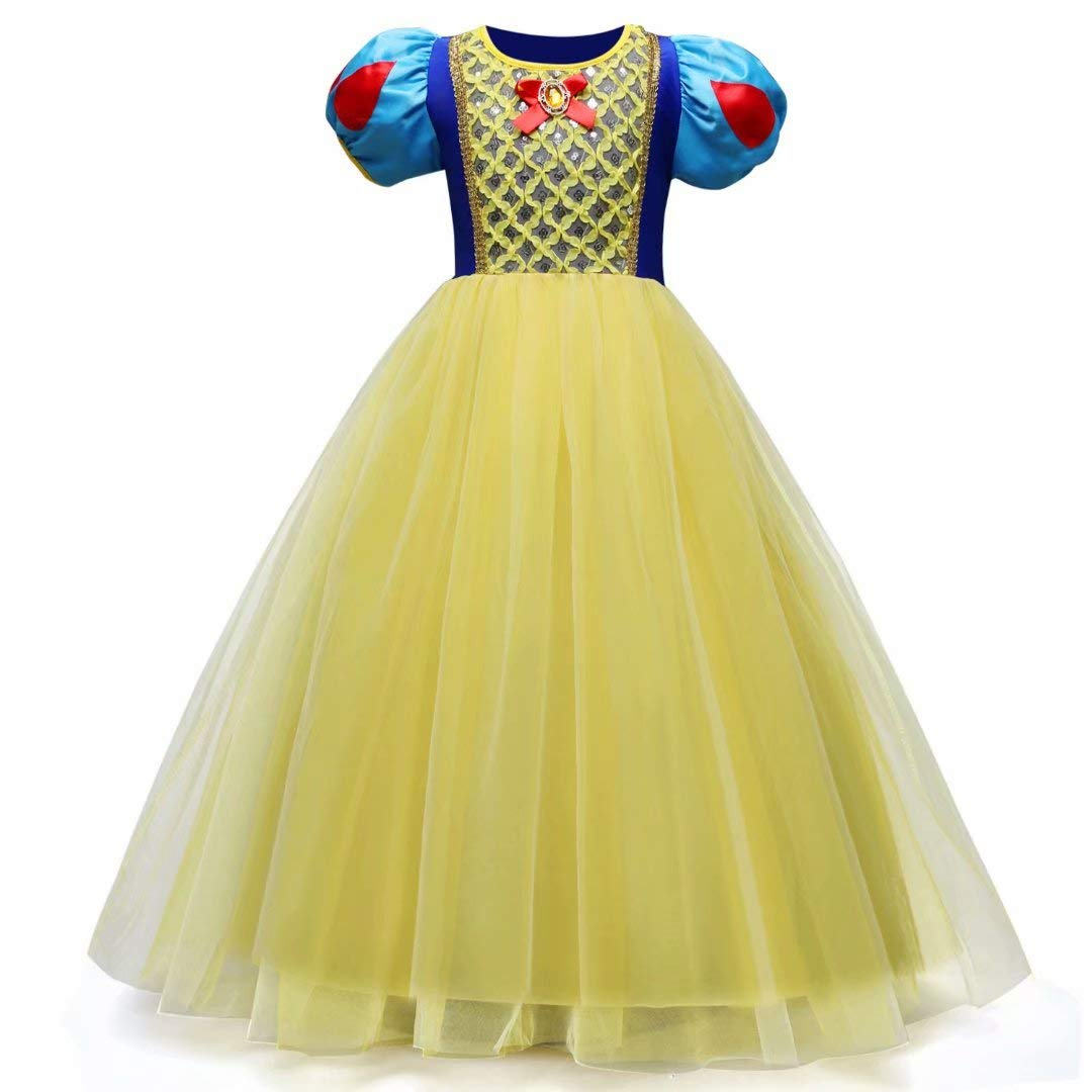 Tsyllyp Girl Snow White Coustume Princess Tutu Dress up Party Gown