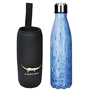 A Lazy Dog 17 Oz Vacuum Cup Travel Water Bottle Double Walled Stainless Steel Water Thermos Cup Cola Style