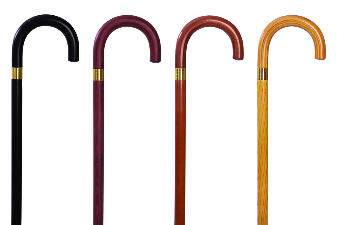 Essential Medical Supply Endurance Wood Cane with Curved Handle, Natural