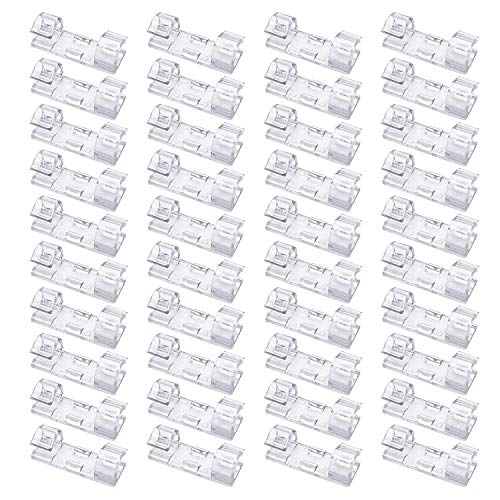 40 Pack Cable Clips - Viaky Strong 3M Adhesive Wire Holder Organizer Durable Cord Management System, for Organizing Cables Home and Office(Transparent Colors)
