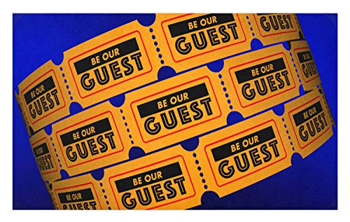 Ambesonne Be Our Guest Doormat, Event Party Theatre Invitation Tickets 3D Illustration Contest Winning Lottery, Decorative Polyester Floor Mat with Non-Skid Backing, 30