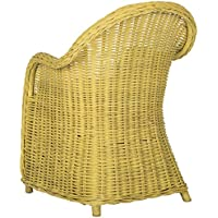 Safavieh Home Collection Callista Yellow Wicker Club Chair, Standard