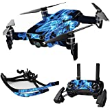 MightySkins Skin For DJI Max Coverage - Blue Flames | Protective, Durable, and Unique Vinyl Decal wrap cover | Easy To Apply, Remove, and Change Styles | Made in the USA