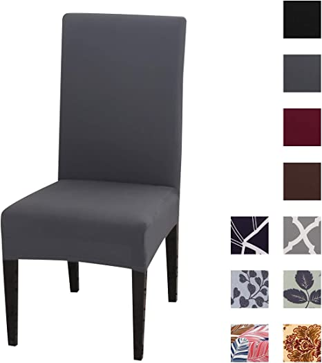 Kivors Chair Covers Dining Table Covers Elastic 4 6 Pieces Removable And Washable Chair Covers For High Chair Protective Covers For Chairs Very Easy To Clean And Durable Amazon De Kuche Haushalt