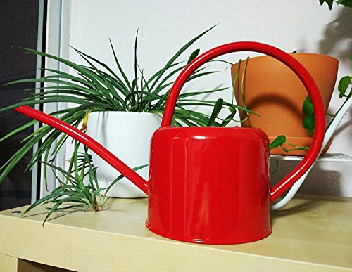 Layboo Retro Style Gorgeous Long Spout/Iron Watering Can Gardening Tool 1.7 L(red)