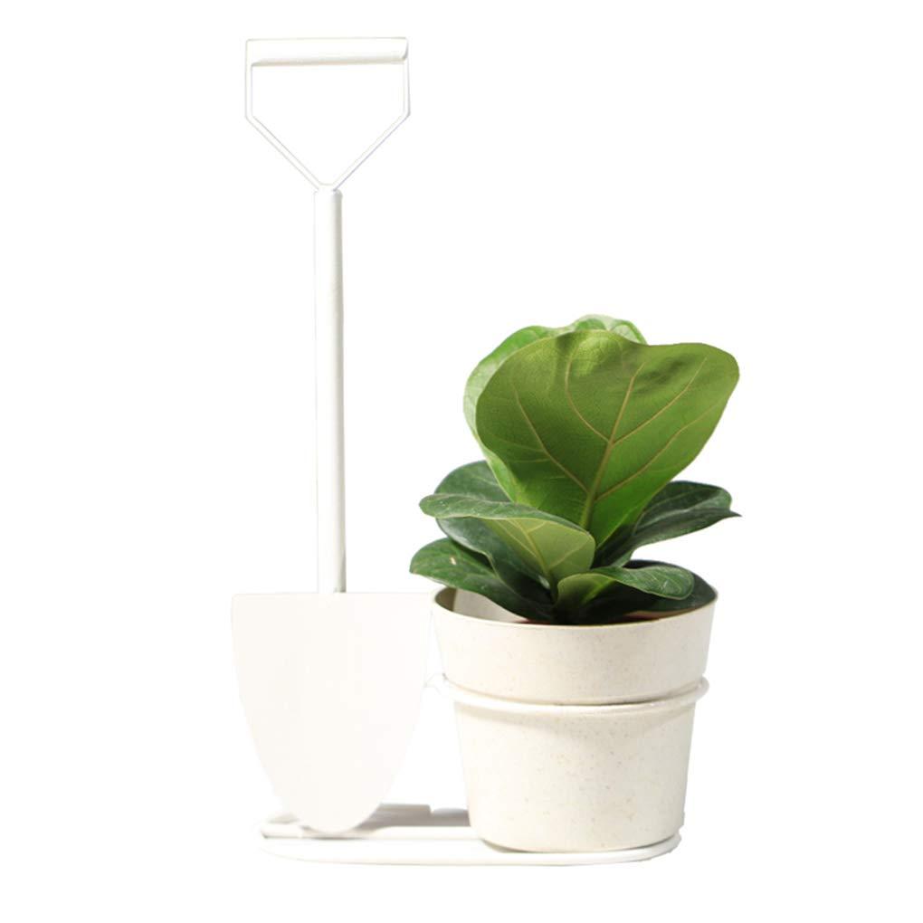 Ferro Art Flower Pot Decorazione Hydroponics Plant Flower Stand Fiori Pianta in Vaso Fiore Desktop Flower Pot Holder Ware Creative,bianca